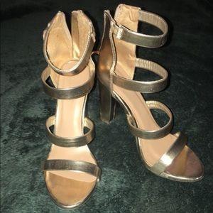Gold Charlotte Russe heels